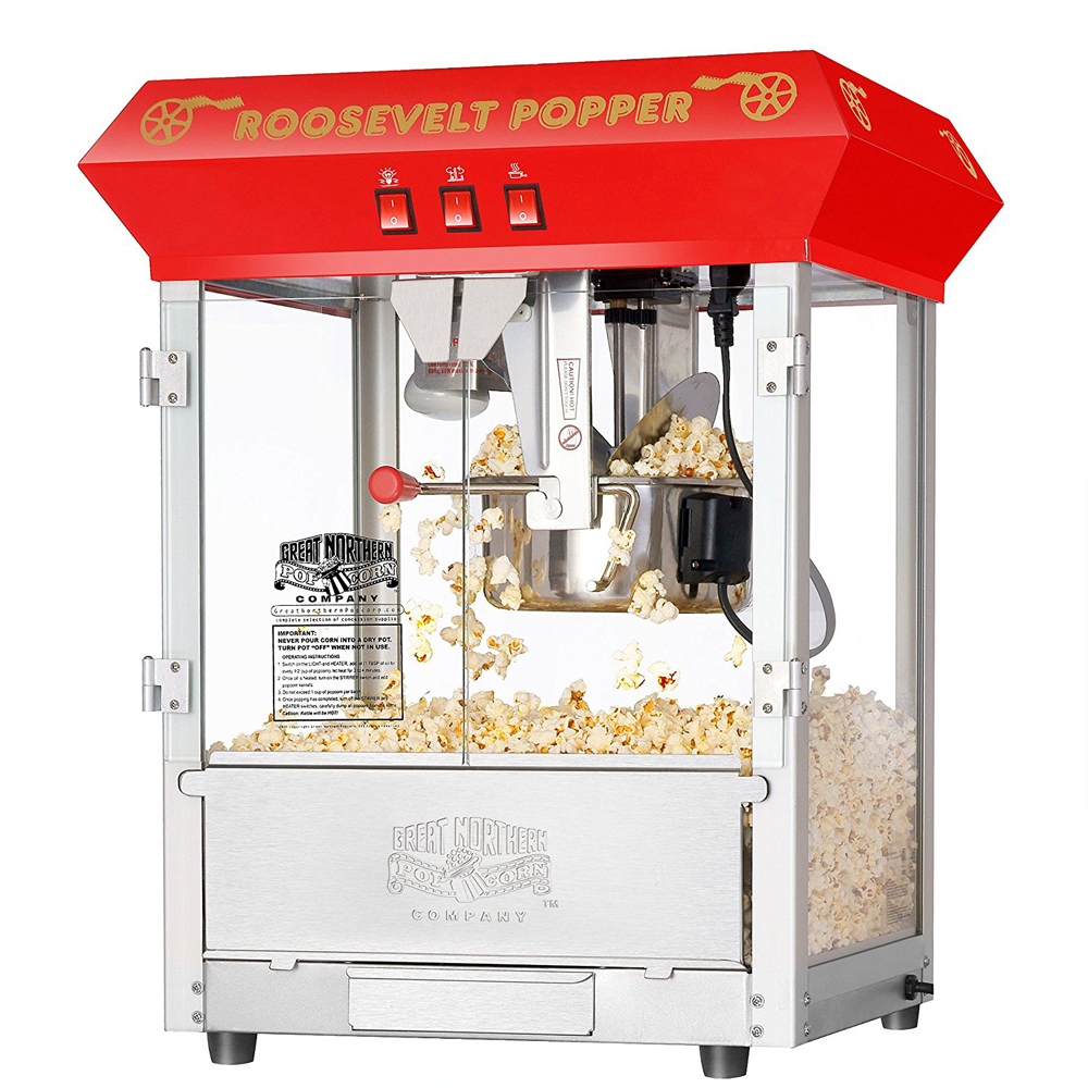 Popcorn Machine - Nothing beats the popping sound and the sweet smell of newly made popcorn.