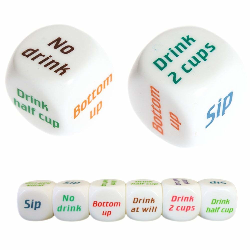 Dice Drinking Game - Roll up and let the dice decide what you drink.