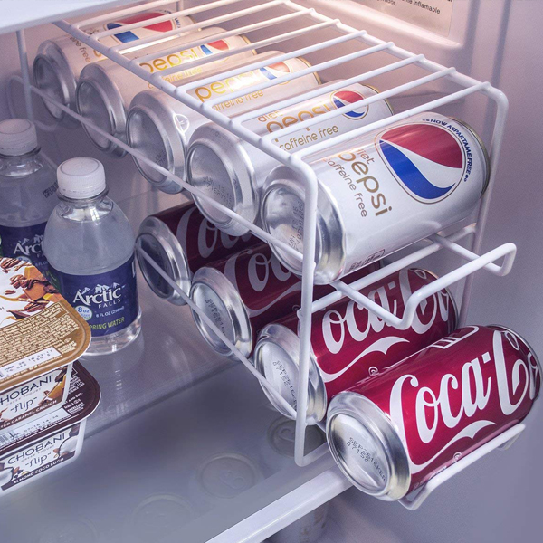 Can Beverage Dispenser Rack - Soda can organizer and can hold up to 12 cans.