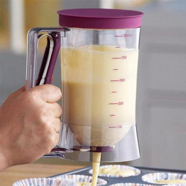 Pancake & Cupcake Dispenser - Smoothly squeeze to pour the your pancake or cupcake mix. Made with durable and excellent quality BPA-free plastic.