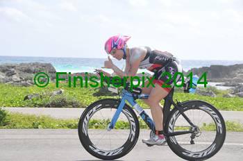 Kristine Wooten competing at IM Cozumel 2014