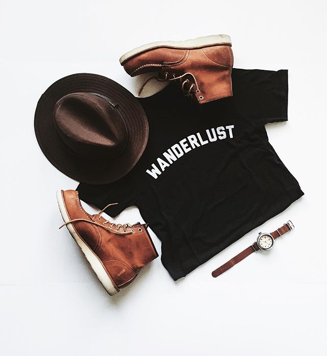 Wanderlust Essentials - #americanmade #usa #wanderlust #handcrafted #makesmith #vsco #vscocam #redwings #redwingboots #styleformen #clothingbrand #instagood #picoftheday #leatherboots #madeinusa