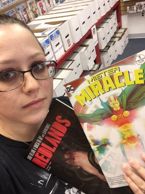 Mister Miracle #1 - Heather's PickFrom the team behind The Sheriff of Babylon and the Hugo Award-nominated writer of Vision comes a unique new take on one of Jack Kirby's most beloved New Gods.Scott Free is the greatest escape artist that ever lived. So great that he escaped Granny Goodness' gruesome orphanage and the dangers of Apokolips to travel across galaxies and set up a new life on Earth with his wife, the former female fury known as Big Barda. Using the stage alter ego of Mister Miracle, he has made a career for himself showing off his acrobatic escape techniques. He even caught the attention of the Justice League, which counted him among its ranks. You might say Scott Free has everything...so why isn't it enough? Mister Miracle has mastered every illusion, achieved every stunt, pulled off every trick - except one. He has never escaped death. Is it even possible? Our hero is going to have to kill himself if he wants to find out.