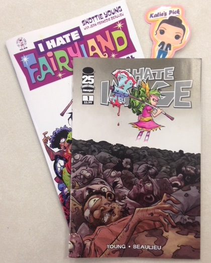 I Hate Image Special Edition - Katie's PickThe Free Comic Book Day hit is back, with even more pages! Gertrude has been stuck in Fairyland for decades when she finally hears of a secret passage that may be her way back home. But reaching it is easier said than done, as she crosses the border into Image where she'll have to chop her way through your favorite characters from SAGA, THE WALKING DEAD, SAVAGE DRAGON, SPAWN, DESCENDER, BLACK SCIENCE, SOUTHERN BASTARDS, and many more! This all-new special edition features four additional pages of story as Gert slices and dices her way through even more of your Image favorites, plus a behind the scenes look at Skottie's script, layouts, and black and white artwork all wrapped in a brand-new cover!