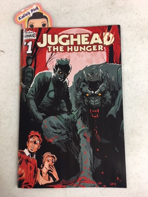 Jughead The Hunger #1 - Katie's PickBRAND NEW SERIES!  Jughead Jones is a werewolf, and Reggie Mantle has fallen victim to Jughead's monstrous ways. Now Betty Cooper: Werewolf Hunter along with Archie Andrews are hot on the trail of Jughead.
