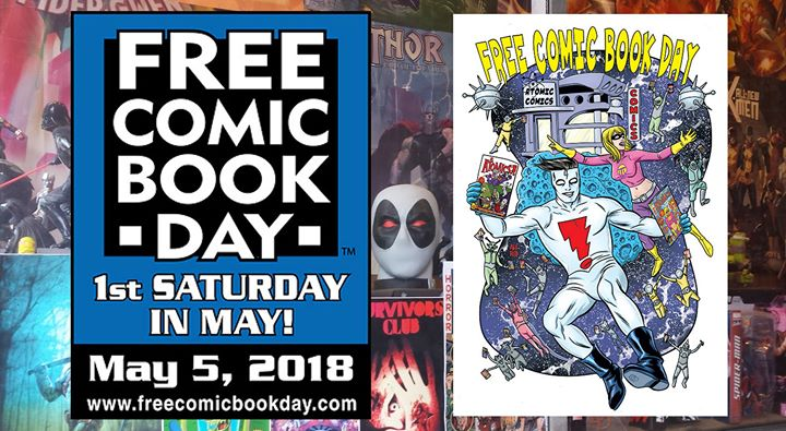 It's the biggest Comics Celebration of the year! It's FREE COMIC BOOK DAY!!! We will have crafts for the kids (and kids at heart)! Free comics and more!