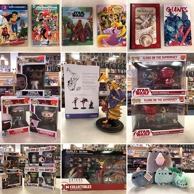 It's #NewComicBookDay! Let's celebrate! Come by and see all the New! *~*~*~*~*~*~*~*~*~*~*~*~*~*~*~* #dccomics #dcsuperherogirls #batgirl #joellejones #jimhenson #funkopop #starwars #jurassicworld #pusheen #tangled #harleyquinn #ncbd