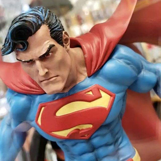Come check out some of our new statues we got some great stuff in today! Including this awesome #superman by @jimlee !!! #DC #comics #figures #figs #fairfax #amazing #heros #catwoman #deadpool
