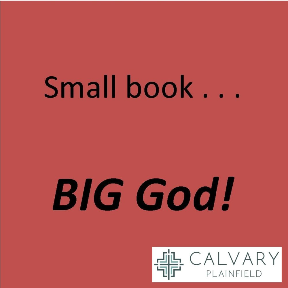 Small Book... Big God