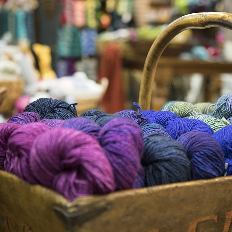 You know you want to touch that yarn. Photo by Karen DeWitz for By Hand Serial