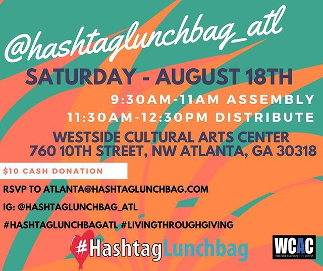 ‼️‼️Everyone come out TOMORROW MORNING & help a great cause😘 @spinecenteratlanta @hashtaglunchbag_atl @westsideartsctr