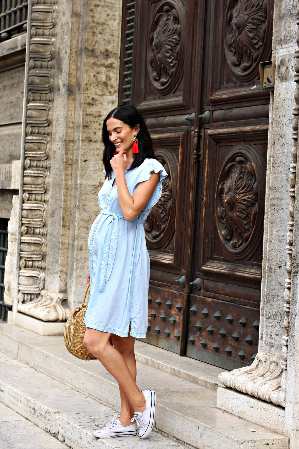 413ebb7be02 Maternity Style  Simple Summer — Impeccably Imprfect