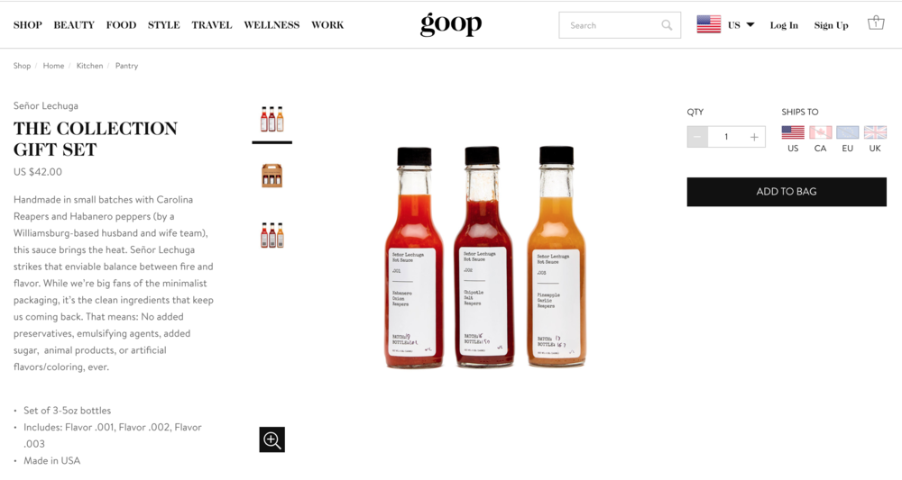 "Goop    The Cook's Gift Guide    -  2018 Ultimate Holiday Gift Guide  ""En fuego."""