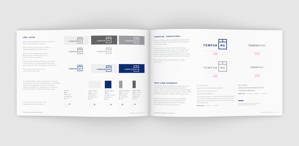 Tempur-Me Brand Guidelines