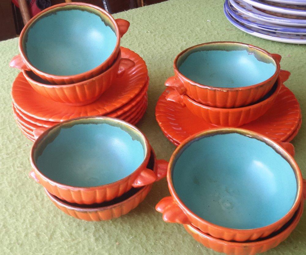 Autumn Harvest Soup Bowls/Saucers