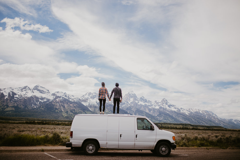 Van life couple traveling Western US