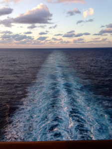 I took this picture on the back of the cruise ship.It was my first time on a cruise ship and I had a blast.- Oh yeah I love taking pictures when I'm on vacation.