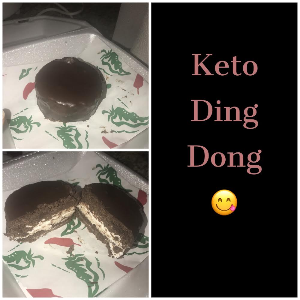 My last week I decided to treat myself with a delicious healthy Keto ding dong, made with almond flour and Lily chocolates
