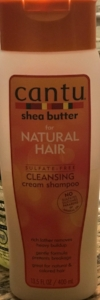 My shampoo I am now currently using.  Cantu Shea Butter
