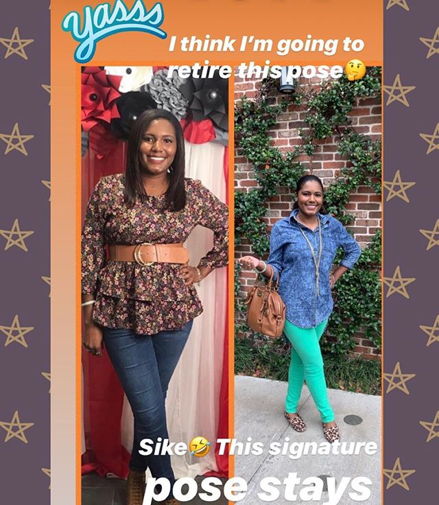 I'm getting my signature pose ready for 2019 🤣 Bam !💥Bam! 💥 💃🏽