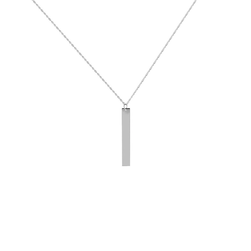 p pendant products necklace white classic oro web solid vertical gold bar vrai
