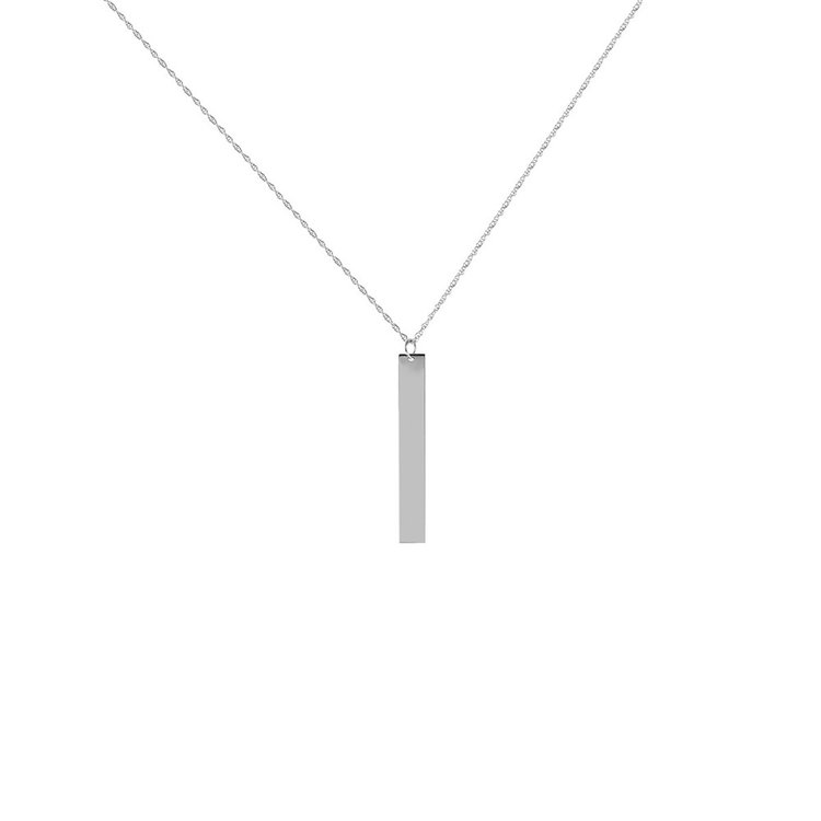 wholesale bar necklaces gold skinny product personalized vertical initial slim stick silver diamond necklace simple heart