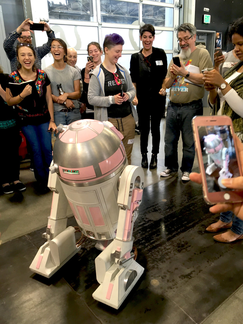 Meeting R2D2's GF at Autodesk Pier 9