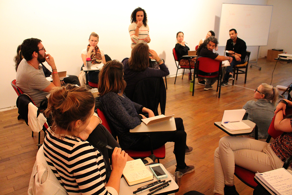 Garance Chocko engages the fellows in her participatory design practice
