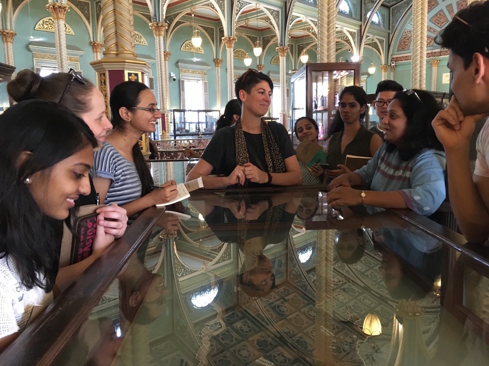 Gaining a historical perspective from Anita at Dr. Bhau Daji Lad Mumbai City Museum