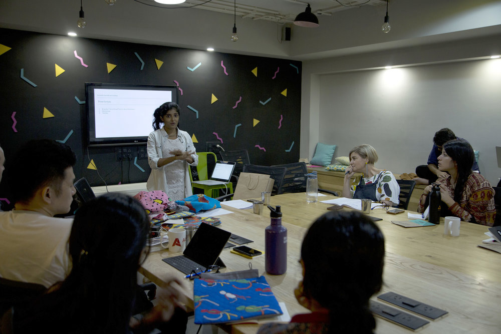 taxi fabric presenting at UnSchool Mumbai