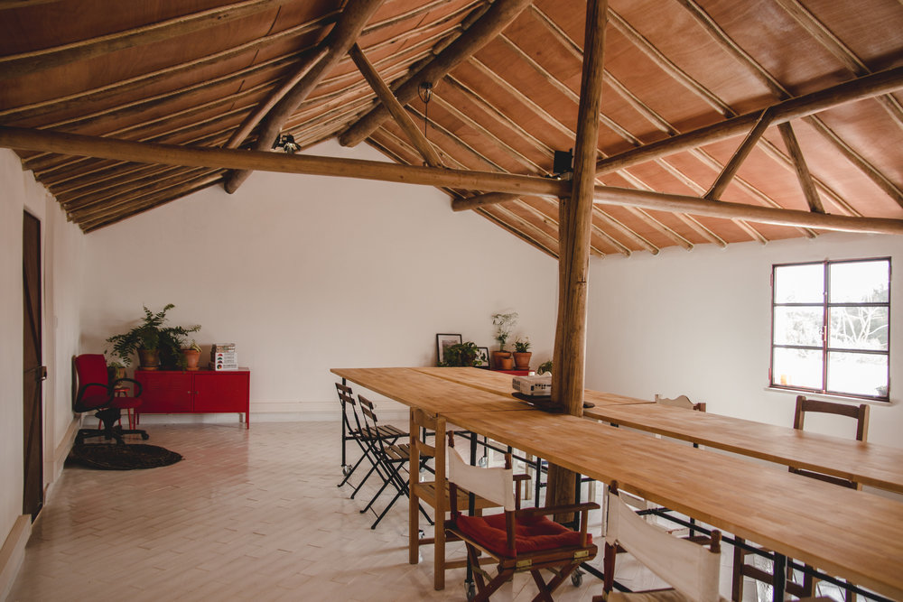 Our beautiful new classroom in Portugal restored in the old family building using local materials and techniques