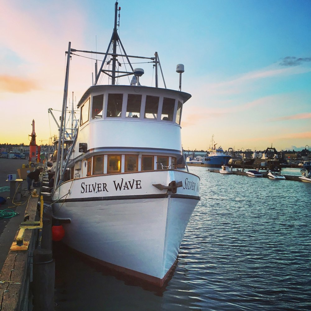 The Boat - Our Fishing Vessel (F/V), the Silver Wave is a soulful 1967 wooden fishing boat. She has a lot of grit, charm and beauty. Her trusty aluminum skiff, which directs the boat's net to bring in the catch, is aptly named the 'Silver Surfer'.In Alaska,