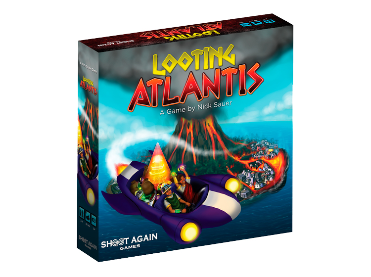 Looting Atlantis - In Looting Atlantis, you and a few other enterprising Atlanteans take to the skies in air cars in the hopes of plundering your way into fame and fortune! Dodge lava flows, steal abandoned technologies, and then use those technologies to ensure your place among the future royalty of the new age! In the city of Atlantis, your fate is determined only by your ability to outwit and outplay whoever stands in your path to glory. Learn More about Looting Atlantis