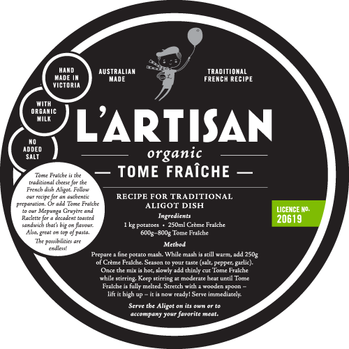 — TOME FRAICHE —   The central ingredient to the French dish Aligot. Also add to Mepunga Gruyère and Raclette for a decadent toasted sandwich, or great on top of pasta. The possibilities are endless!  1.5kg