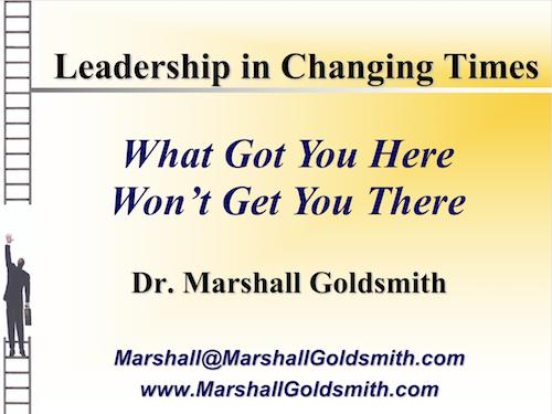Copy of Keynote Speaker: Marshall Goldsmith