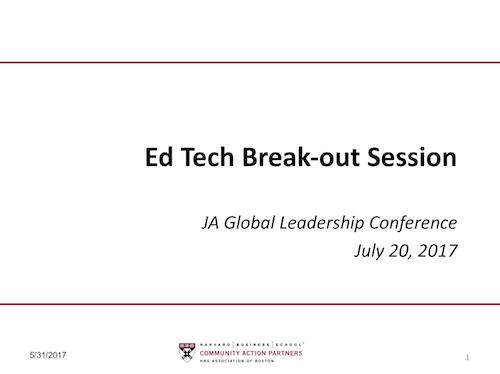Copy of Education Technology Breakout: John Shaw