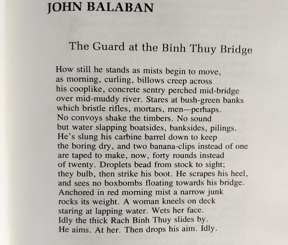 John Balaban - The Guard at the Binh Thuy Bridge