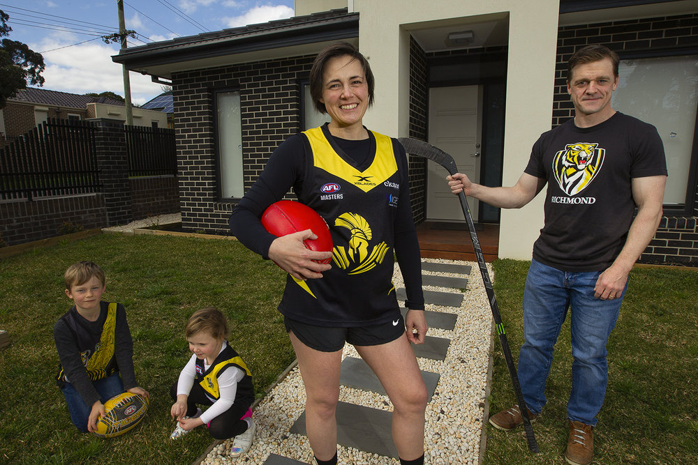 After consulting her husband, Ashley Preston uprooted her family and moved from Canada to the southern hemisphere city of Melbourne for a new job. Then she took on its indigenous football code in a new competition!