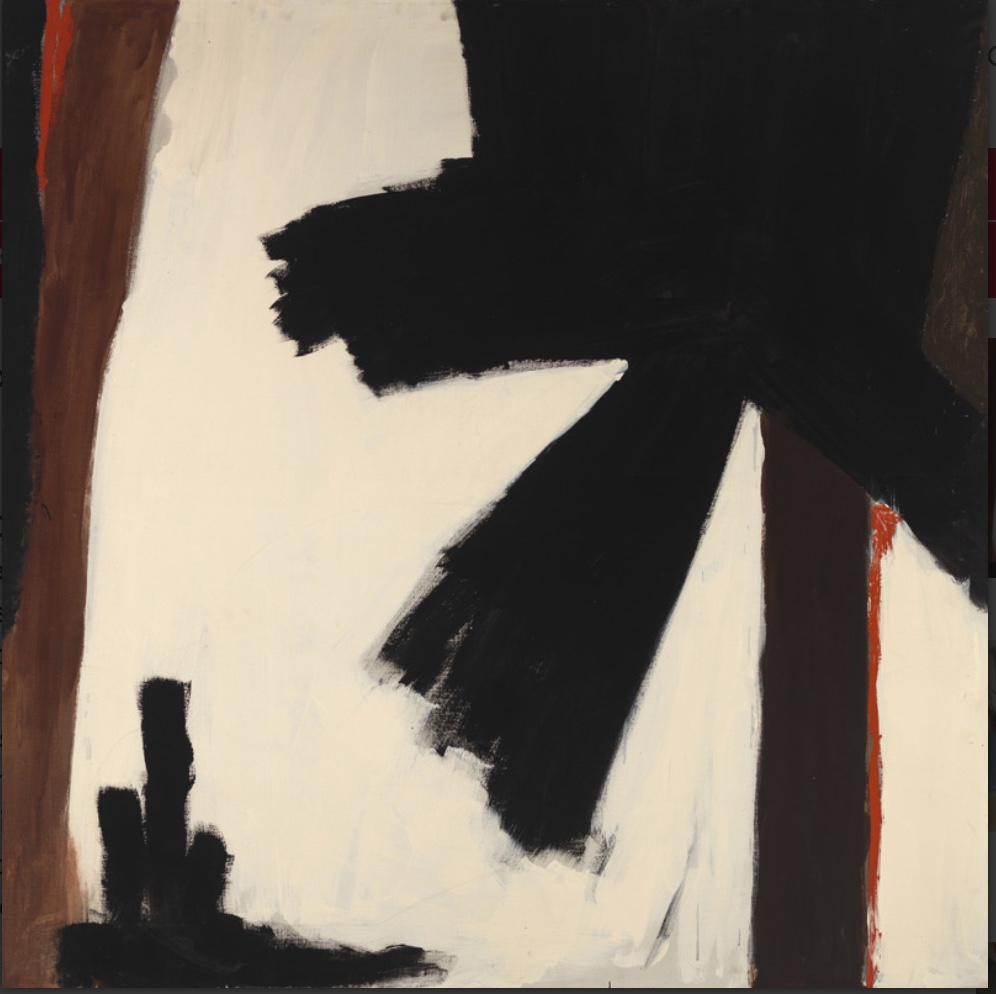 Black Poppy - ca. 1960, Judith Godwin (American, b. 1930), oil on canvas. Gift of Mrs. M.S. Chevalier