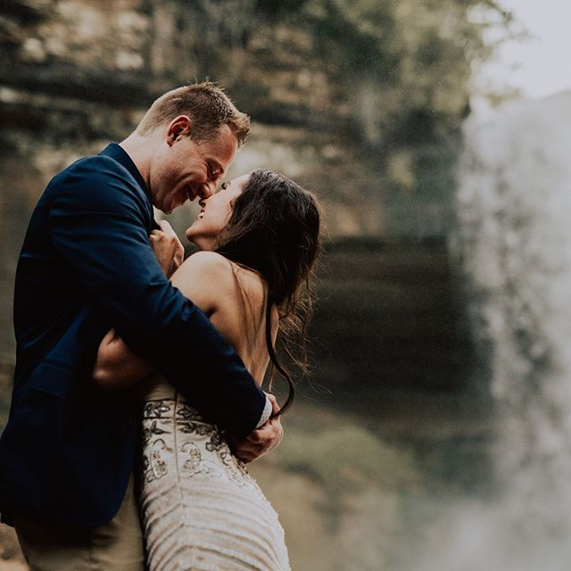 Too cute to not share! I am so honored and excited to be a part of my best friends wedding this September. Their engagement photos are absolutely adorable! So happy for these two lovebirds☺ 📸 -  @innatelight_  #engagementphotos #lovebirds #repost #minnesota #minneapolis #minihahafalls #minnesotabride #weddingseason #wedding #waterfall #glamorous #romantic #couple #inlove