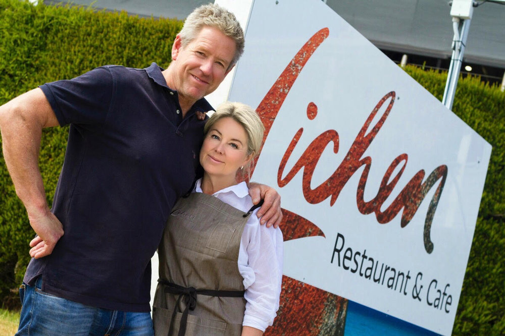Owners Jacquie & Glenn   McLean  -  Lichen Restaurant & Cafe, Binalong Bay