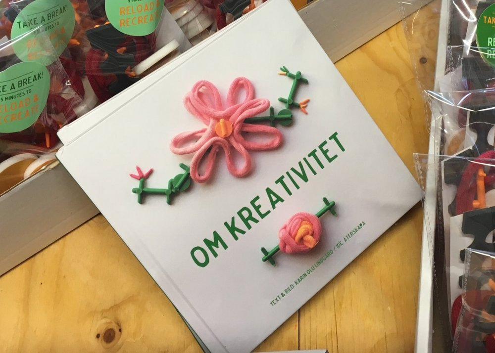 OM KREATIVITET - återSKAPAs book about the creative process and methods for idea generation.Contact: info@aterskapamalmo.seCost: 150kr