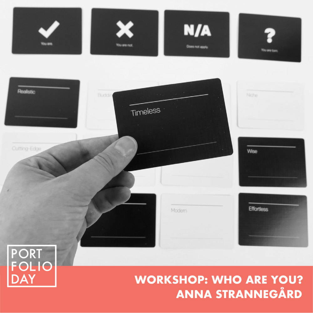 (FULLY BOOKED, REGISTER FOR WAITLIST)    EVENT TIME: 16.00 - 17.00   Learn how to identify your brand's characteristics by using the Brand Deck, a tool that helps you figure out who you are. Having a clear picture of how you want to be perceived by your audience will help you create a stronger brand for your project/organisation/business. Anna Strannegård is a project leader at STPLN and experienced in a wide range of tools for concept development, iterative design processes and co-creation.  Spots limited to 6 seats