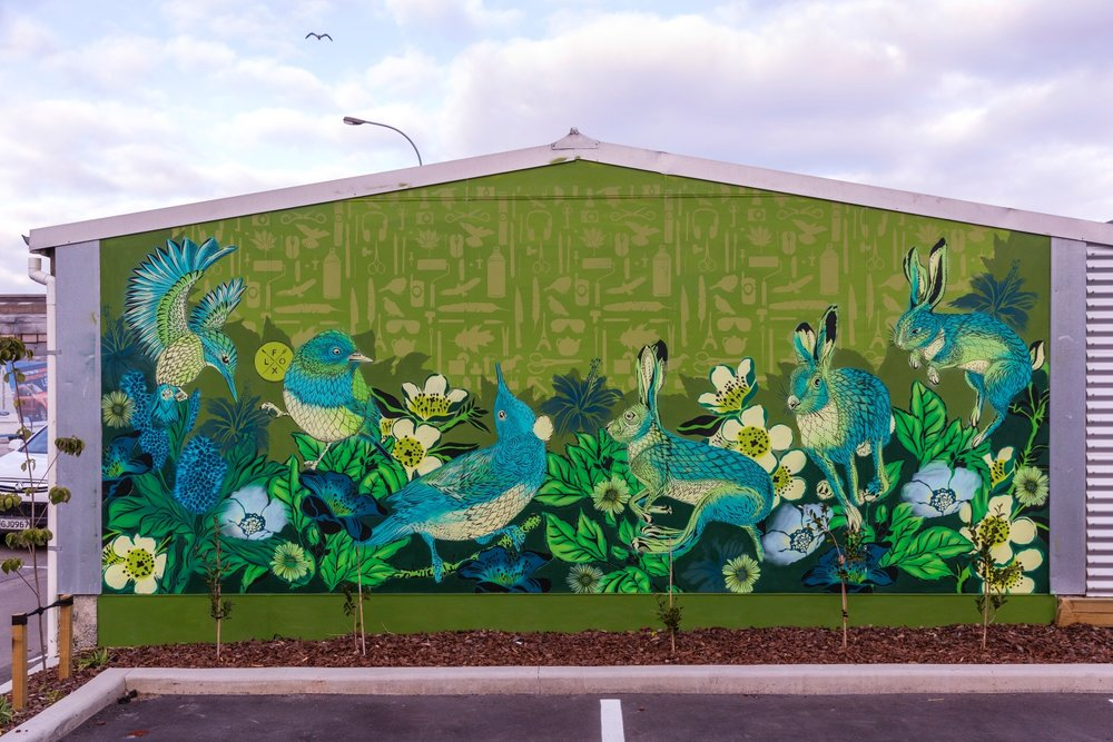 Flox mural, Spectrum 2015 Christchurch – credit Luke Shirlaw