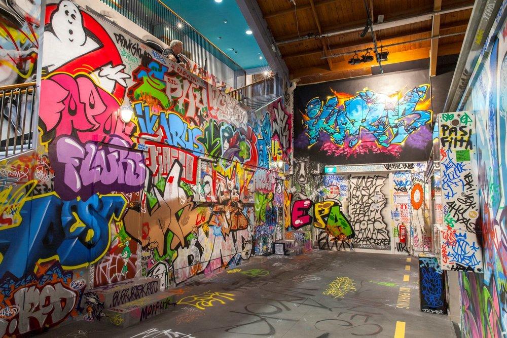 Christchurch graffiti artists installation, Rise 2014 Christchurch – credit Luke Shirlaw