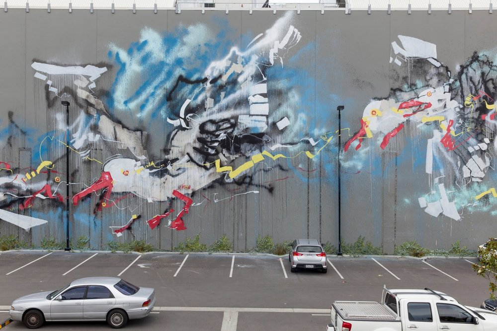 Anthony Lister mural, Rise 2014 Christchurch – credit Luke Shirlaw
