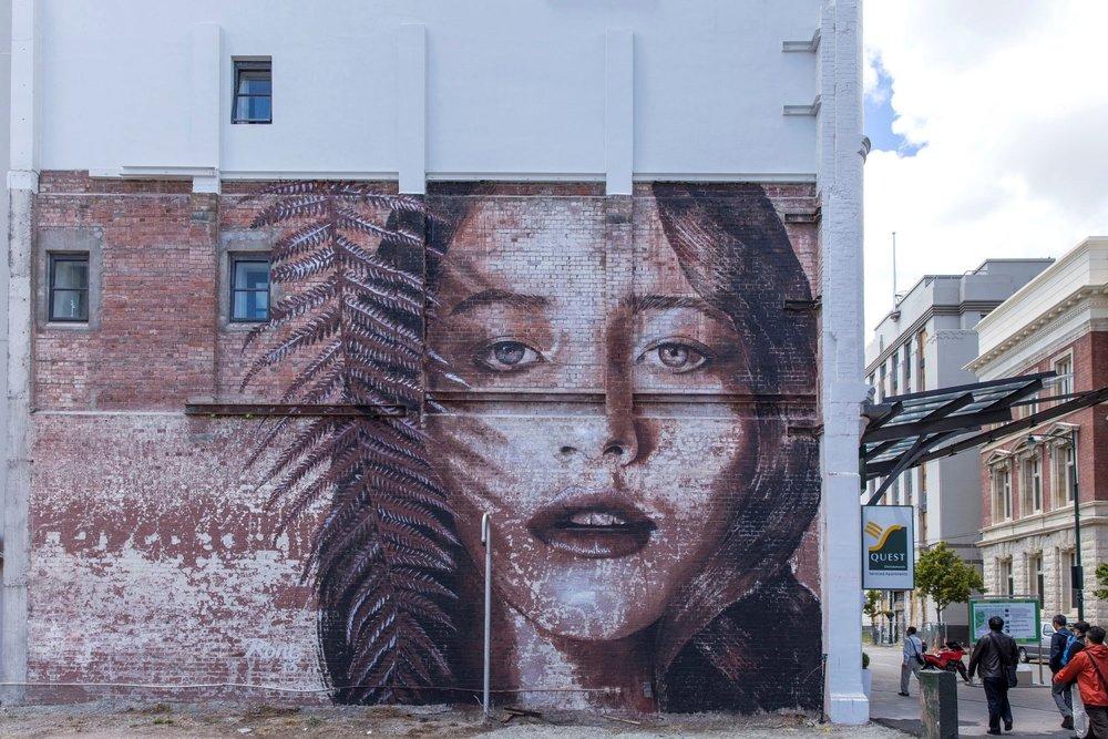 Rone mural, Rise 2014 Christchurch – credit Luke Shirlaw