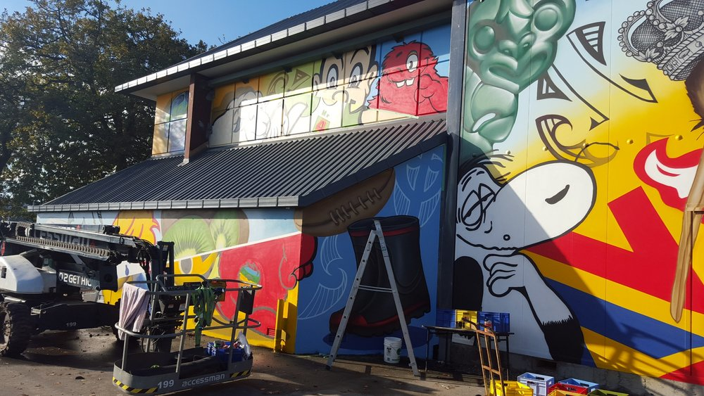 The finished mural 2, Dcypher Mural 2016 Christchurch