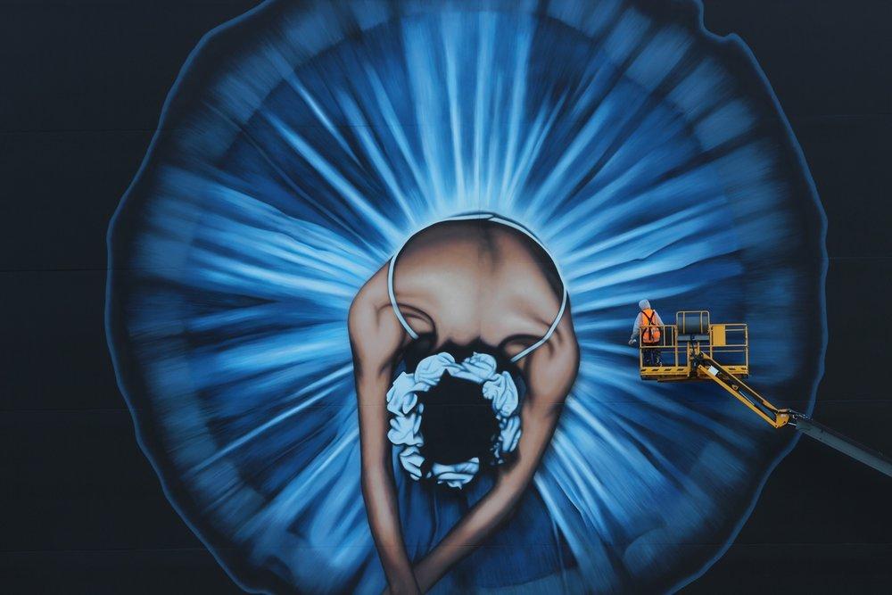 Owen Dippie mural, Rise 2014 Christchurch – credit Luke Shirlaw