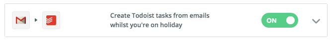 Let people create tasks whilst I'm away - Coming back from vacation is a pain in the backside when it comes to catching up on email. This automation reduces the pain by giving my colleagues a way to add individual to-do items to my task list directly, meaning that when I come back my actions should be listed out nicely for me to review and prioritise.